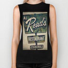 Al Read's Restaurant Vintage Sign Biker Tank