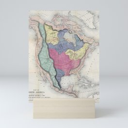 William Gilpin - 1872 Map of North America Mini Art Print