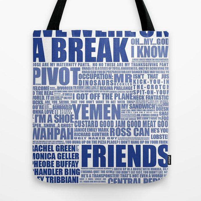 Friends Blue Tote Bag