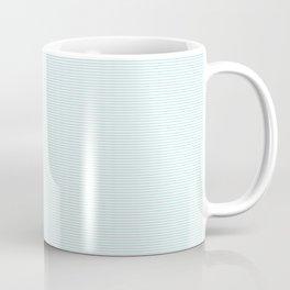 Duck Egg Pale Aqua Blue and White Horizontal Thin Pinstripe Pattern Coffee Mug