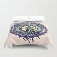 buddhism Duvet Covers featuring Tree of Knowledge by DebS Digs Photo Art