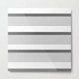 Strips - white and gray. Metal Print