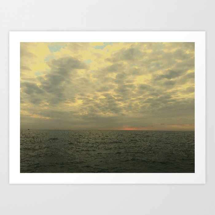Sunrise on Lake Michigan #1 Art Print