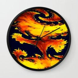 fire whirl Wall Clock