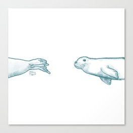 Seal Love Canvas Print