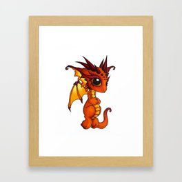 Baby Orange Dragon Framed Art Print