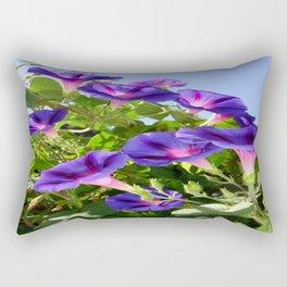 Deep Purple Morning Glory Climbing Plant Rectangular Pillow