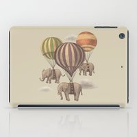 artists iPad Cases featuring Flight of the Elephants  by Terry Fan
