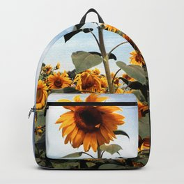 Sunflower Photograph Backpack