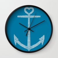 kpop Wall Clocks featuring Love is the anchor by Picomodi