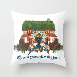 Gnome Place Like Home Throw Pillow
