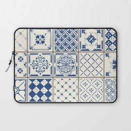 Blue Ceramic Tiles Laptop Sleeve