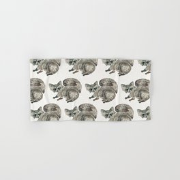 Raccoon – Warm Grey Palette Hand & Bath Towel