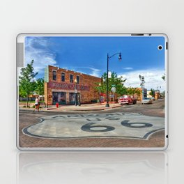 Standin on the Corner Route 66 in USA Laptop & iPad Skin