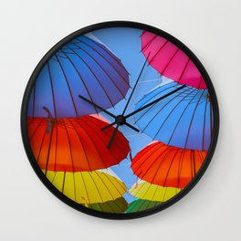 sunny and vibrant Wall Clock