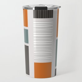 Mid Century Modern Panels Travel Mug
