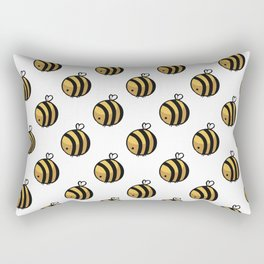 Bee Polka Dot Rectangular Pillow