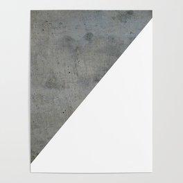 Concrete Vs White Poster