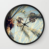 ferris wheel Wall Clocks featuring Ferris Wheel by Kameron Elisabeth