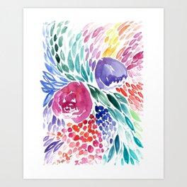 Floral Swirl Art Print