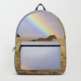 Wild Horses Before A Rainbow Backpack