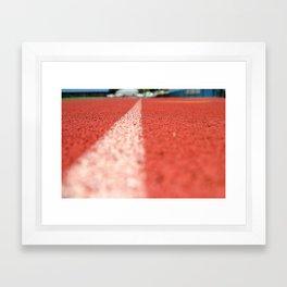 Track Line Framed Art Print