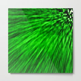 Emerald Pixel Wind Metal Print