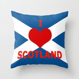 Scotland Flag Saltire Throw Pillow