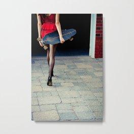 Longboard & Nylons  Metal Print