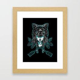 Wolf Spirit: Guarded Framed Art Print