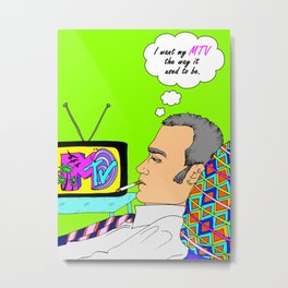 I Want my MTV the way it used to be, 90's Ewan McGregor Illustration Metal Print