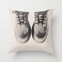 doctor Throw Pillows featuring Doctor Doctor by ReginaRoad