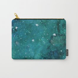 Watercolor galaxy - teal Carry-All Pouch