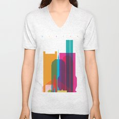 Shapes of Boston. Accurate to scale Unisex V-Neck
