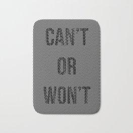 Can't or won't? Bath Mat