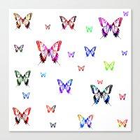 butterflies Canvas Prints featuring Butterflies. by haroulita
