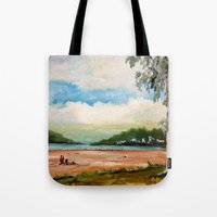 cleveland Tote Bags featuring Cleveland by Helen Syron