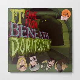 """It Came From Beneath Doritodan"" - Dungeons & Doritos Metal Print"