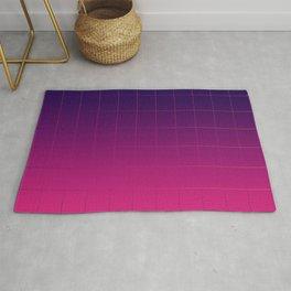 Synthwave Pantone Gradient Grid Lines Rug