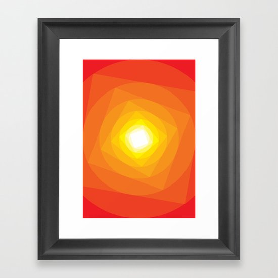 Gradient Sun Framed Art Print