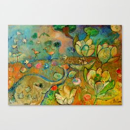 THREE OF HARTS Canvas Print