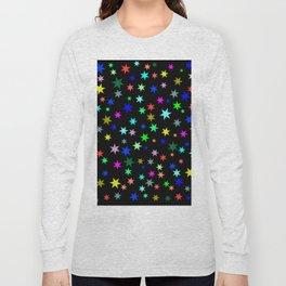 Stars on black ground Long Sleeve T-shirt