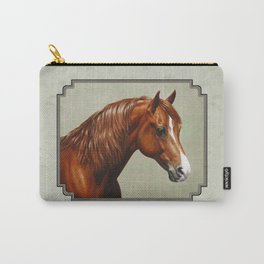 Chestnut Morgan Horse Carry-All Pouch