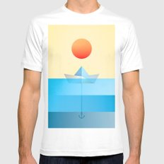 Paper Boat MEDIUM Mens Fitted Tee White