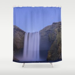 Skógafoss Waterfall Shower Curtain