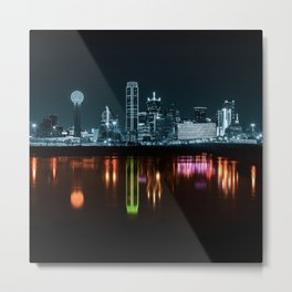 Reflection on trinity river Metal Print