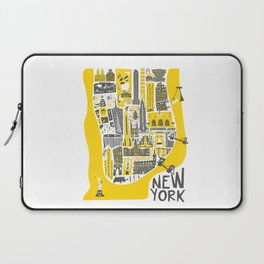Manhattan New York Map Laptop Sleeve