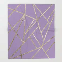 Classic Lavender Gold Geo #1 #geometric #decor #art #society6 Throw Blanket