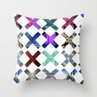holographic Throw Pillows featuring XXX by Sara Eshak
