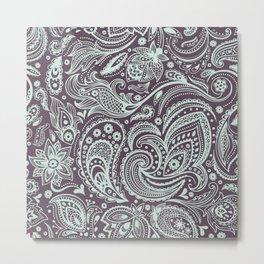 Beautiful vintage floral seamless Metal Print